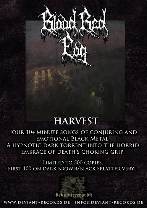 BLOOD RED FOG - HARVEST LP FLYER